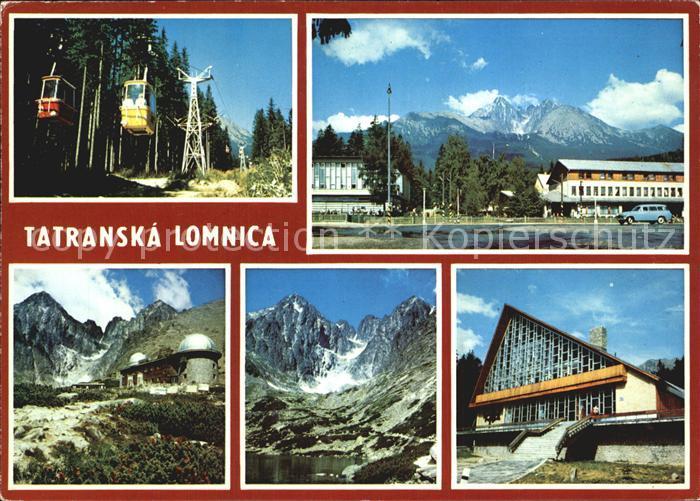 Tatranska Lomnica Vysoke Tatry Hohe Tatra Bergbahn Hotel Restaurant Bergsee Kat. Tschechische Republik