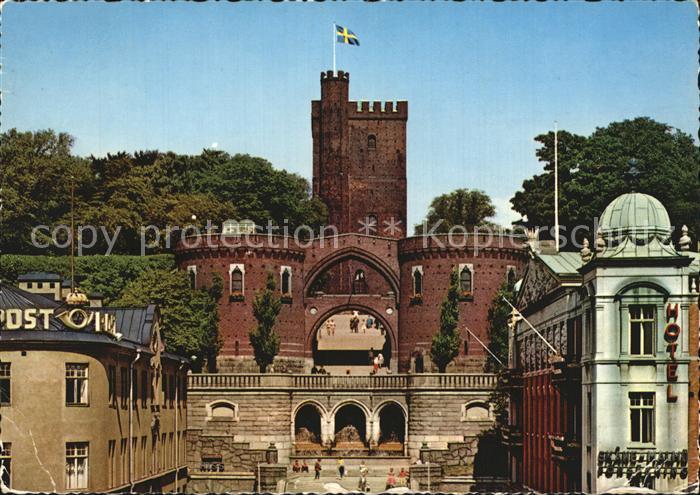 Helsingborg Schlossturm Terrasse Koenig Oscar II Kat. Helsingborg 0