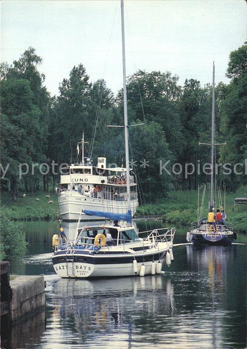 Schweden Goeta Kanal Passagierschiff