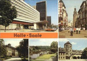 Halle Saale Interhotel Klement Gottwald Strasse Paedagogische Hochschule Dampferanlegestelle Kat. Halle