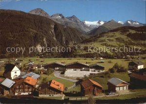 Acletta Disentis GR Panorama mit Medelser Gletscher / Disentis /Bz. Surselva