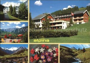 Adelboden Familienhotel Alpina Terrasse Panorama Alpenflora Kat. Adelboden
