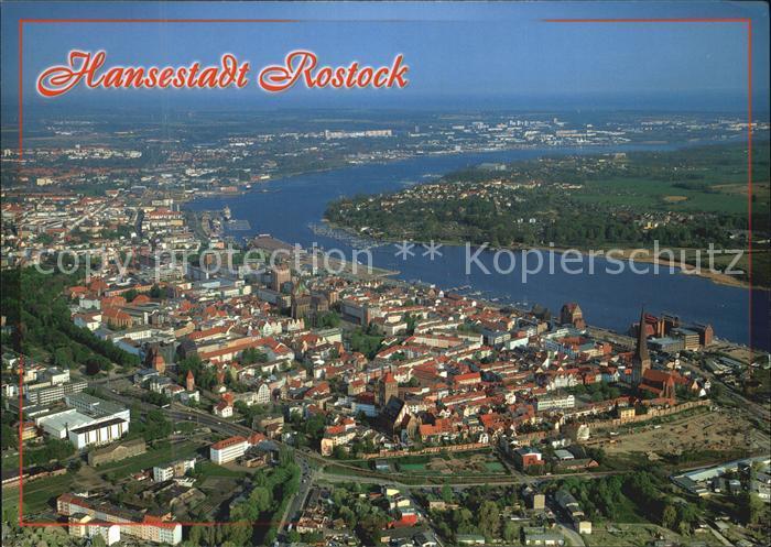 Rostock Mecklenburg Vorpommern Hansestadt Luftbild Kat. Rostock