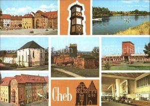 Cheb Teilansichten Marktplatz Haeuserpartie Turm Eger Kat. Cheb