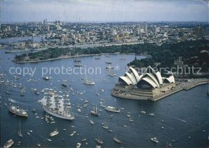 Sydney New South Wales Sydney Harbour during Australia s Bicentenary celebrations Opera House aerial view Kat. Sydney