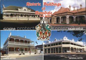 Armidale Historic Buildings Folk Museum Railway Station Imperial Hotel Lands Office Kat. Armidale