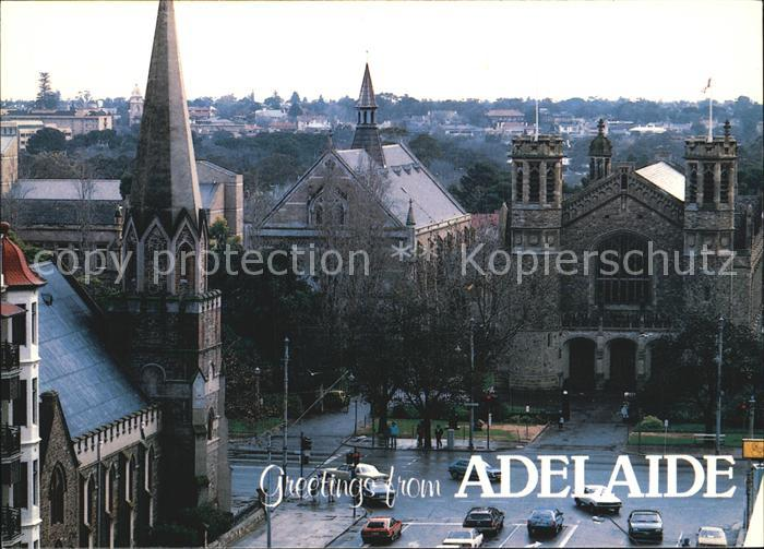 Adelaide Corner of Pulteney Street and North Terrace Church University s Bonython Hall Kat. Adelaide