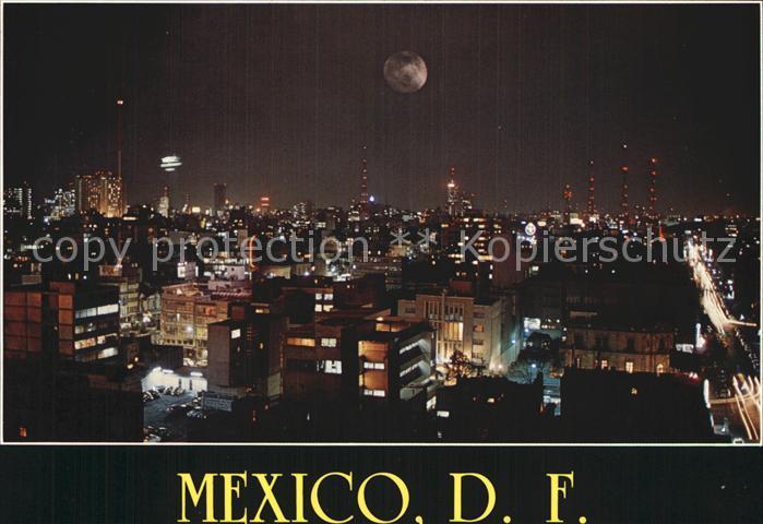 Mexico City Vista Nocturna De La Ciudad Kat Mexico Nr Kt24891