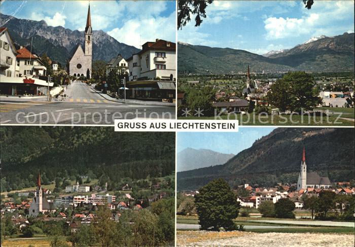 Schaan Liechtenstein Fuerstentum Liechtenstein Ortsansichten Kat. Liechtenstein