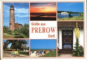 Prerow Ostseebad Darss Leuchtturm Koenigskerze Strand Abend Kat. Darss