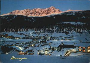 Savognin Nachtaufnahme Winter Kat. Savognin