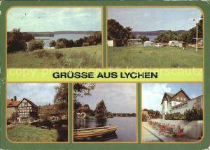 Lychen Grosser Lychensee Campingplatz Malerwinkel Oberpfuhlsee FDGB Erholungsheim Bertolt Brecht Kat. Lychen