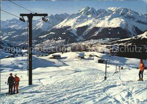 Piz Mundaun Skigebiet  Kat. Piz Mundaun