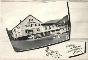 Odenwald Unter Schoenmattenwag Gasthaus Pension zur goldenen Krone