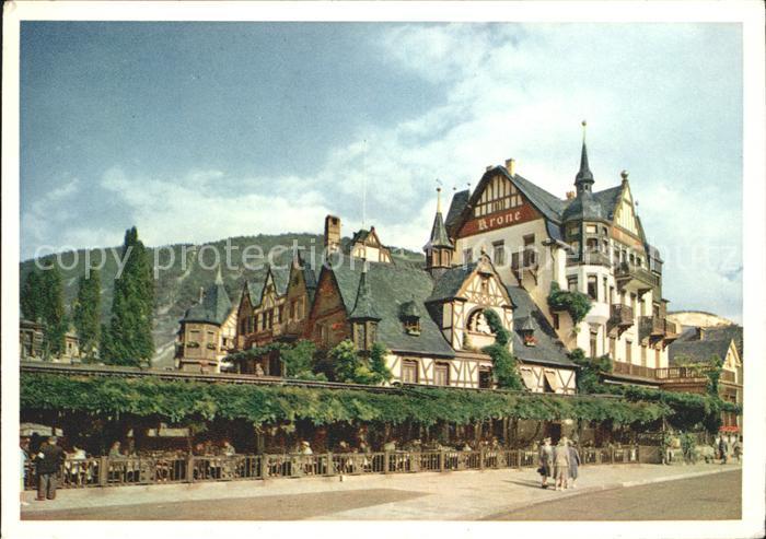Assmannshausen Historischer Gasthof Krone / Ruedesheim am Rhein /