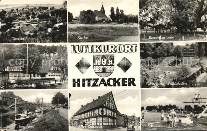 Hitzacker Elbe Panorama Kirche Riesenkastanie Waldfrieden Gaestehaus Hiddasteg Altes Zollhaus Schwimmbad Kat. Hitzacker (Elbe)