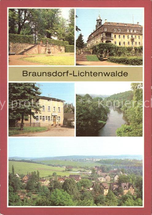 Braunsdorf Lichtenwalde Schlosspark Schloss Lichtenwalde Braunsdorf Gaststaette Am Bahnhof Harrasfelsen Zschopautal Panorama