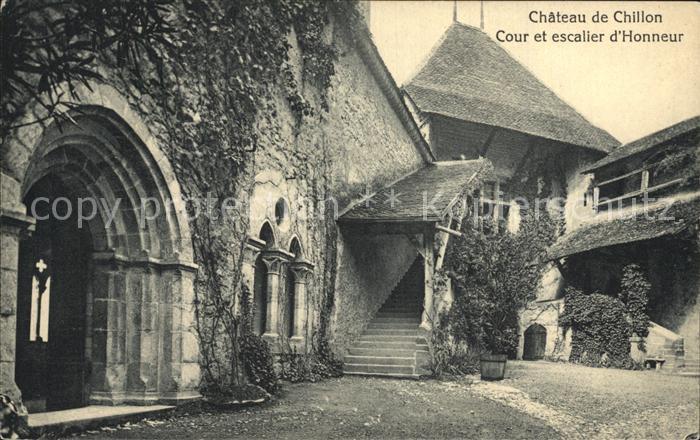 Chillon Gerichtshof Ehrentreppe Kat. Montreux