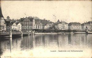 Luzern LU Seebruecke Schwanenplatz Kat. Luzern