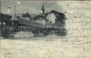Luzern LU Spreuerbruecke Mondschein Kat. Luzern