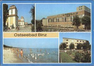 Binz Ruegen Kurhaus FDGB Urlauberrestaurant Strand Betriebsferienheim Kat. Binz