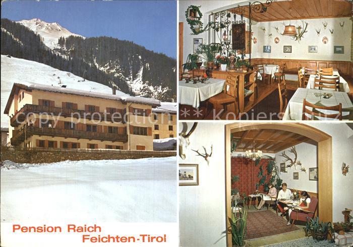 Feichten Kaunertal Pension Raich Gaststube Kat. Tirol