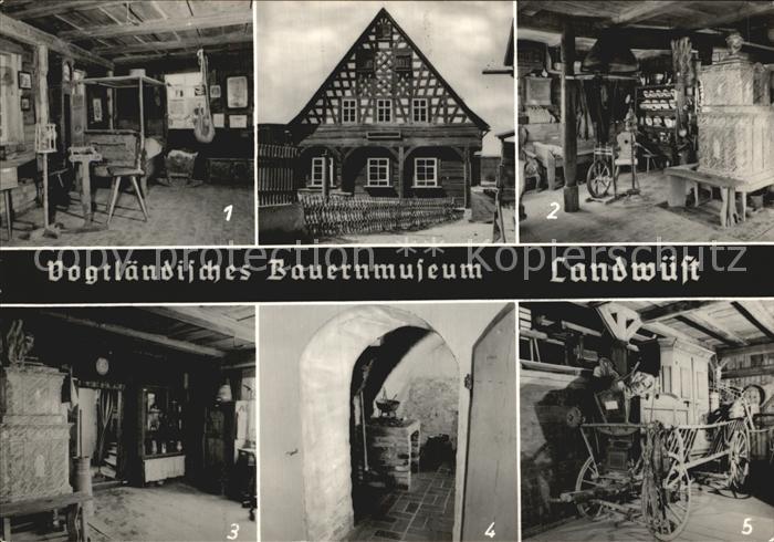 Landwuest Vogtlaend Bauernmuseum Blockstube Russkueche Kammerwagen Kat. Markneukirchen