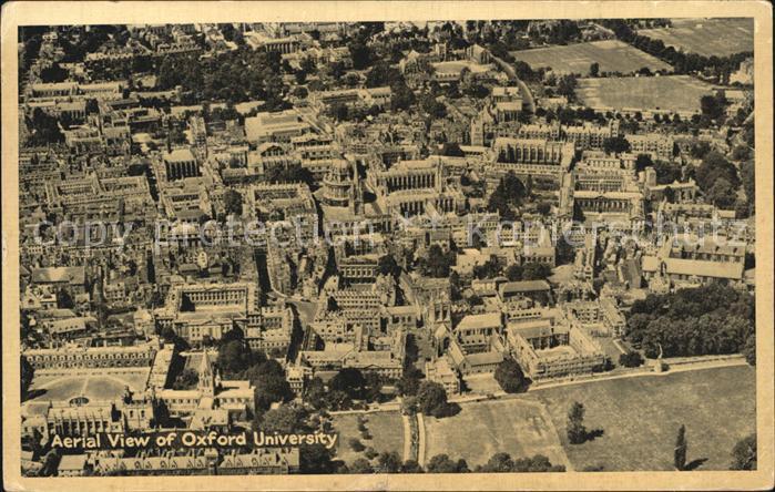 Oxford Oxfordshire Aerial view of Oxford University Kat. Oxford