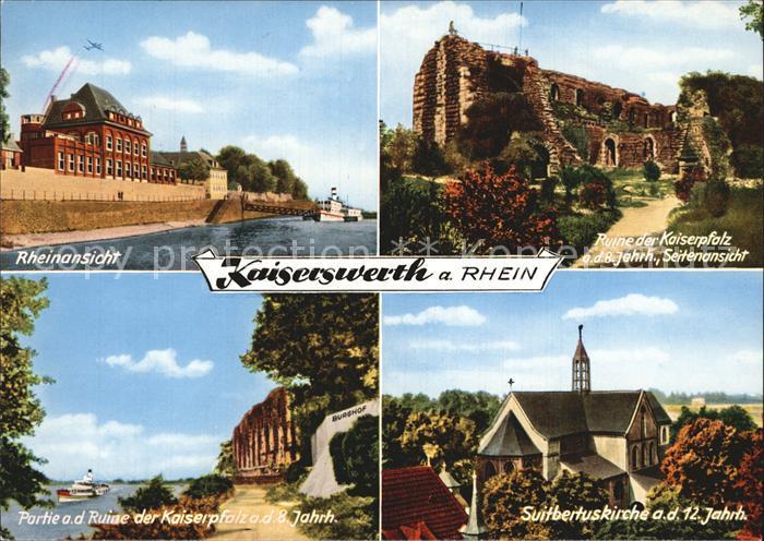 Kaiserswerth Ruine der Kaiserpfalz Rheinpartie  Kat. Duesseldorf