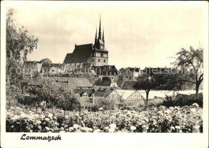 Lommatzsch Teilansicht Kirche Kat. Lommatzsch