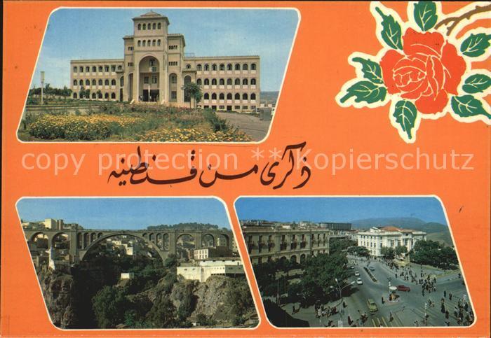 Constantine Hotel Bruecke Strassenpartie Kat. Algerien