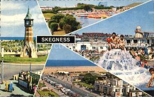Skegness Clock Tower Boating Lake Brand Parade Gardens Bathing Pool  Kat. United Kingdom