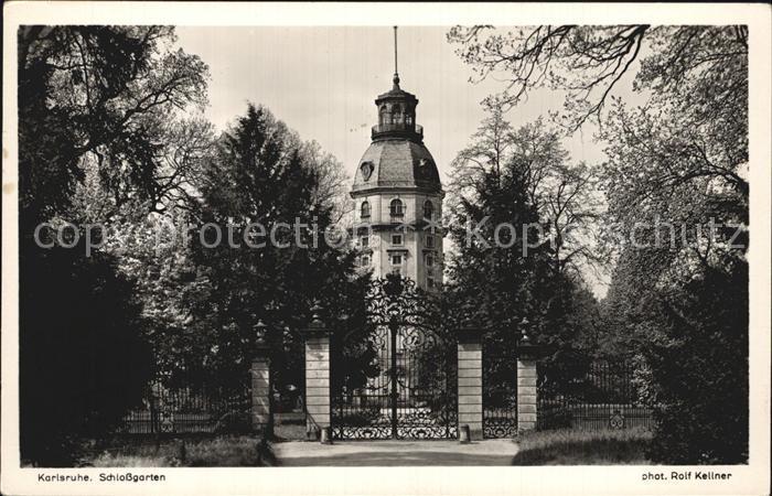 Karlsruhe Baden Schlossgarten Blick vom Fasanengarten auf Schlossturm
