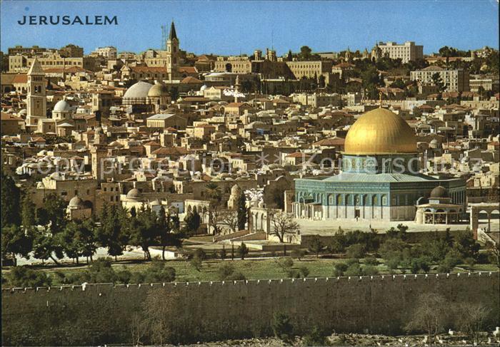 Jerusalem Yerushalayim Blick vom Oelberg aus Kat. Israel