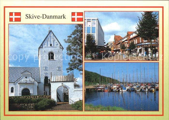 Skive Kirche Dorfpartie Hafen Kat. Skive