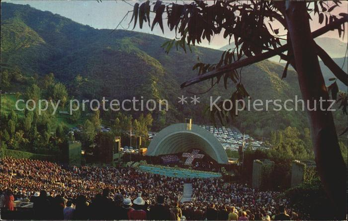 Hollywood California Hollywood Bowl Amphitheatre Foothills Kat. Los Angeles United States