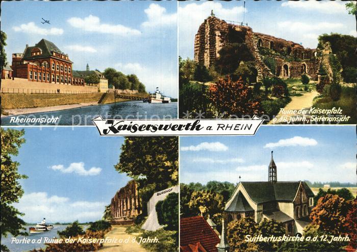 Kaiserswerth Ruine Kaiserpfalz  Partie an der Ruine Suitbertuskirche Kat. Duesseldorf