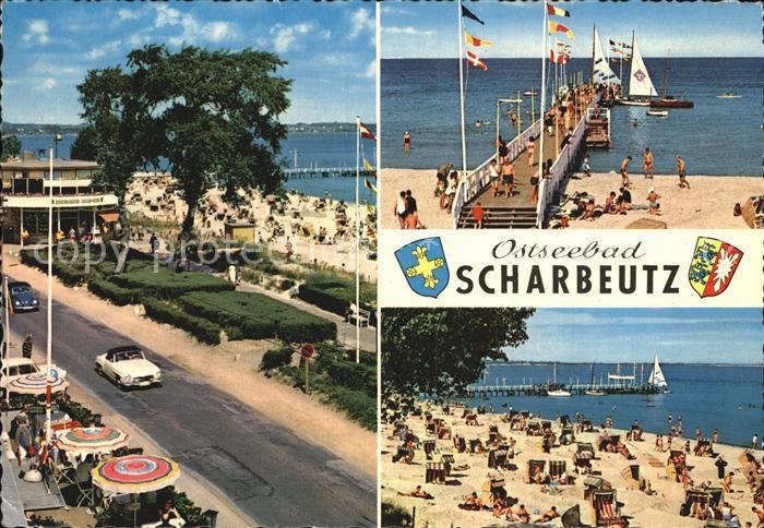 Scharbeutz Ostseebad Promenade Seebruecke Strandpartie Kat. Scharbeutz