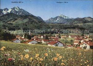 Bergen Chiemgau mit Hochfelln und Hochgern Kat. Bergen