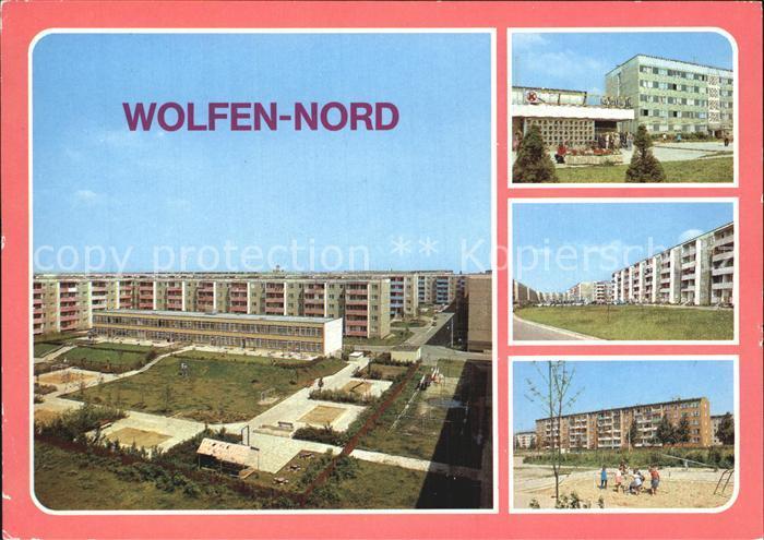 Wolfen Bitterfeld  Strasse der Jugend Kaufhalle Altersheim Ring der Bauarbeiter Kat. Bitterfeld