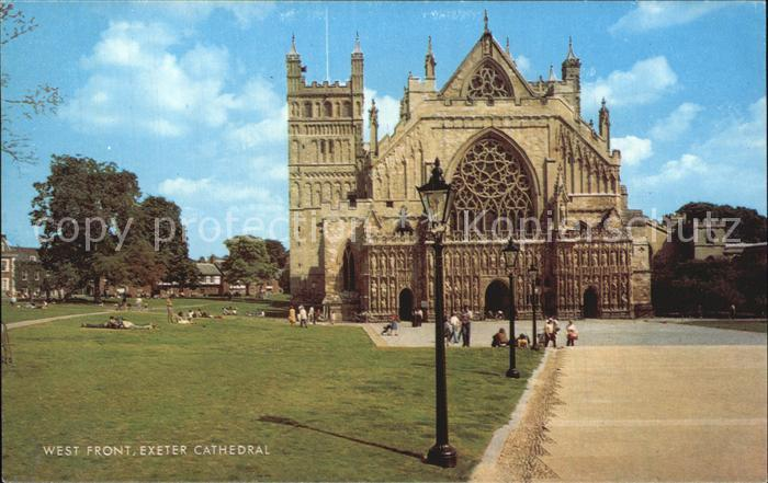 Exeter Cathedral West Front Kat. Exeter