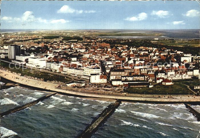 Norderney Nordseebad Strand Luftaufnahme Kat. Norderney