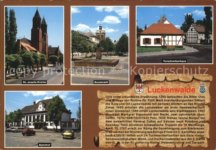 Luckenwalde Sankt Josefs Kirche Bahnhof Boulevard Torschreiberhaus  Kat. Luckenwalde