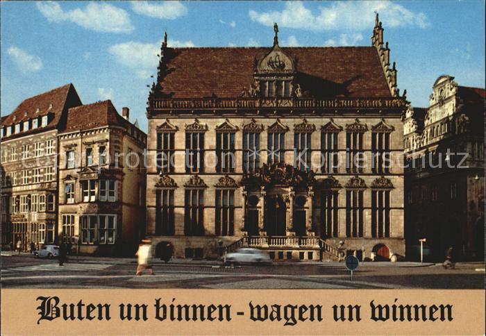 Bremen Der Schuetting Haus der Bremer Kaufmannschaft Kat. Bremen
