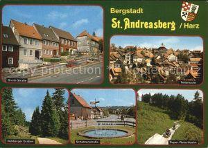 St Andreasberg Harz Breite Str Teilansicht Rehberger Graben Schuetzenstr Super Rutschbahn Kat. Sankt Andreasberg
