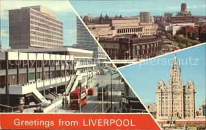 Liverpool St Johns Precinct Mersey Tunnel Entrance Royal Liver Building Kat. Liverpool