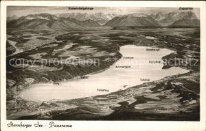 Starnbergersee Panorama Alpenkette aus der Vogelperspektive Kat. Starnberg