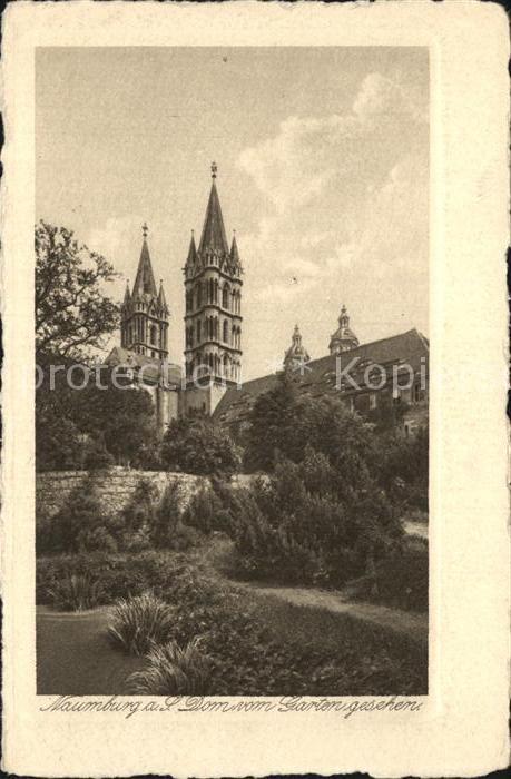 Naumburg Saale Dom vom Garten gesehen Kupfertiefdruck Buetten Kat. Naumburg