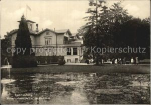 Bad Harzburg Winterkurhaus Kasino im Stadtpark Teich Trinks Postkarte Kat. Bad Harzburg
