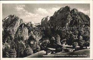Hohes Brett mit Alpenwirtschaft Vorderbrand Kat. Berchtesgaden
